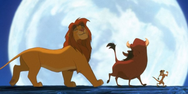 The Lion King 1994 Simba, Pumbaa and Timon