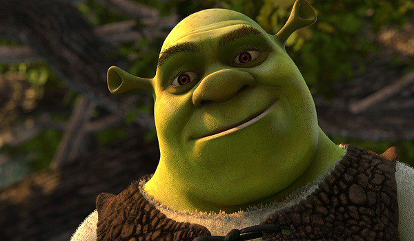 Mike Myers in Shrek the movie