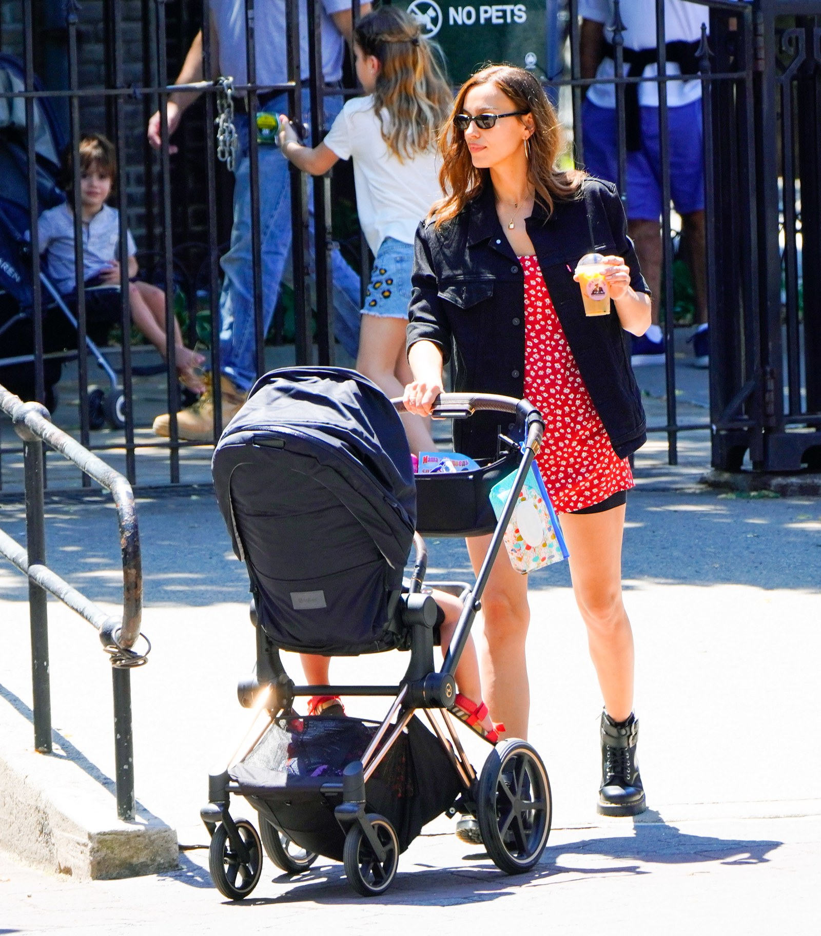 Irina Shayk plays with her daughter Lea in New York City.