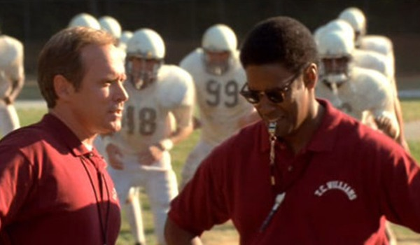 Denzel Washington as a football coach in Remember The Titans