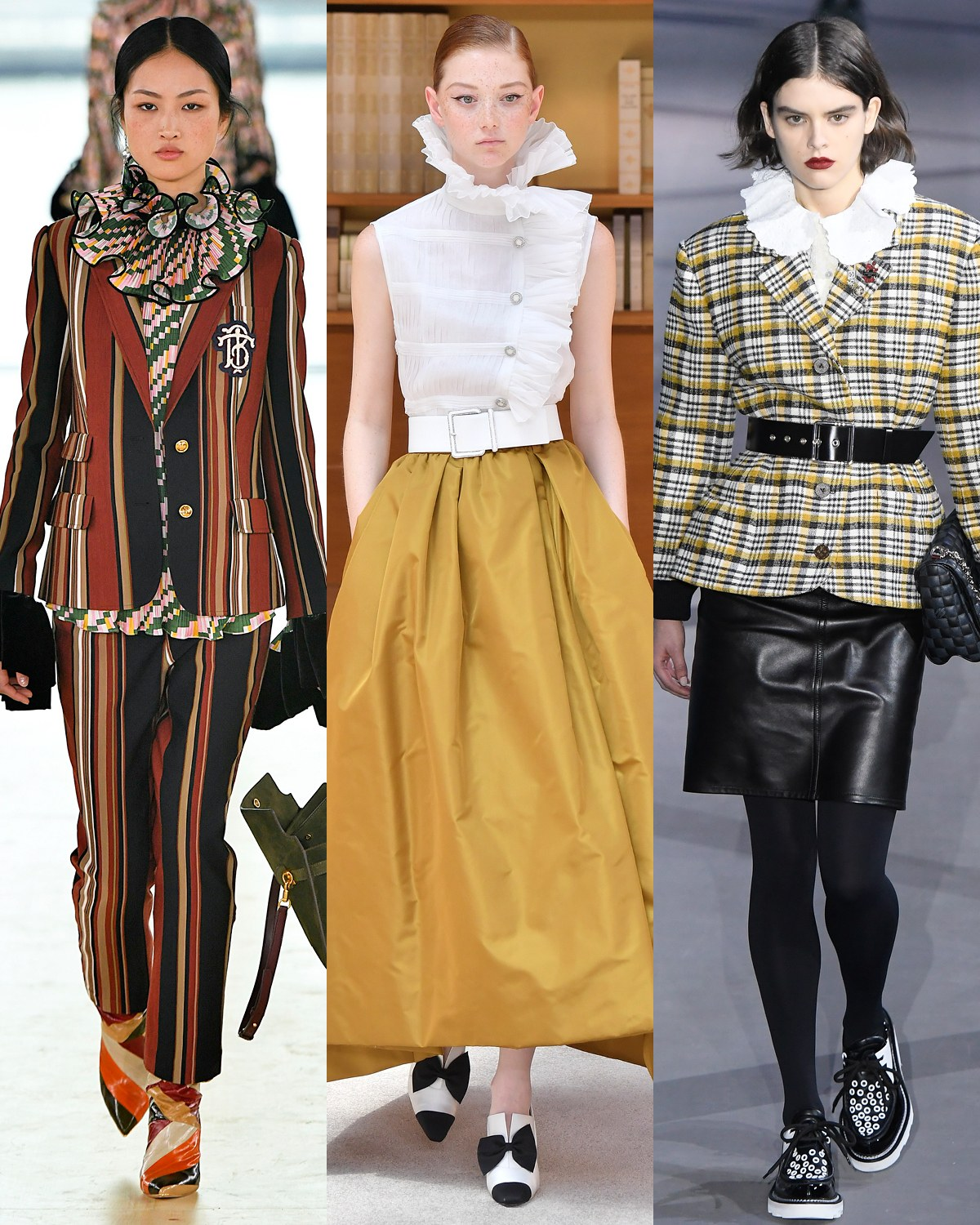 pFrom left Tory Burch Chanel Louis Vuittonp