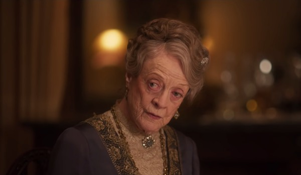 Downton Abbey The Dowager Countess delivering a zinger at dinner