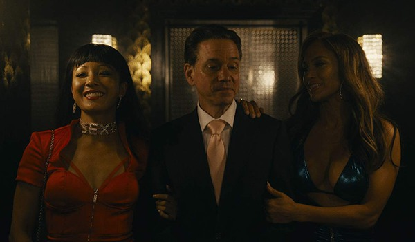 Hustlers Constance Wu and Jennifer Lopez take Frank Whaley to the champagne room