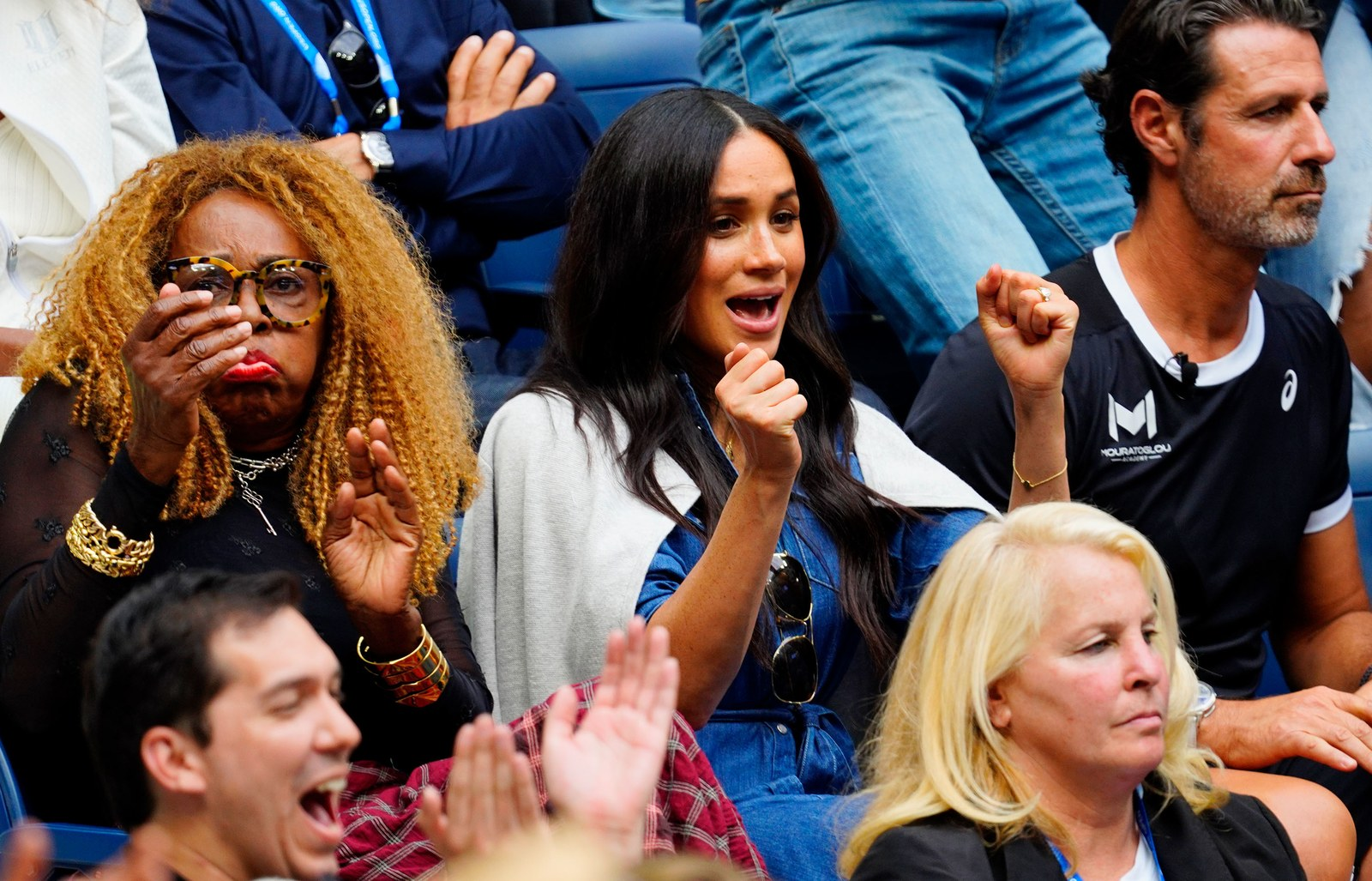 Meghan Duchess of Sussex watches Serena Williams at the 2019 US Open Women's final