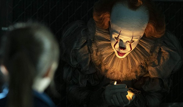 IT Chapter Two Pennywise hovers over a flame