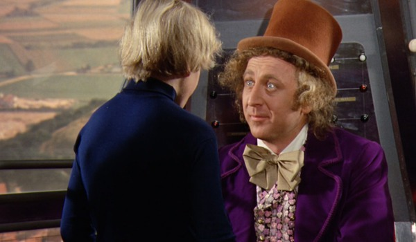 Willy Wonka tells Charlie he inherited the chocolate factory