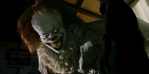 Pennywise leaps from the screen in IT