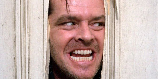 Jack Nicholson as Jack Torrance says Here's Johnny In The Shining