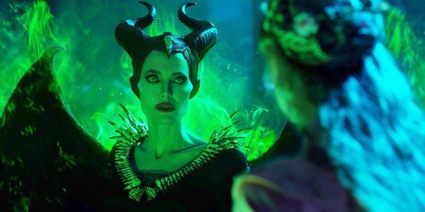 Maleficent: Mistress of Evil with a pleading look towards Aurora