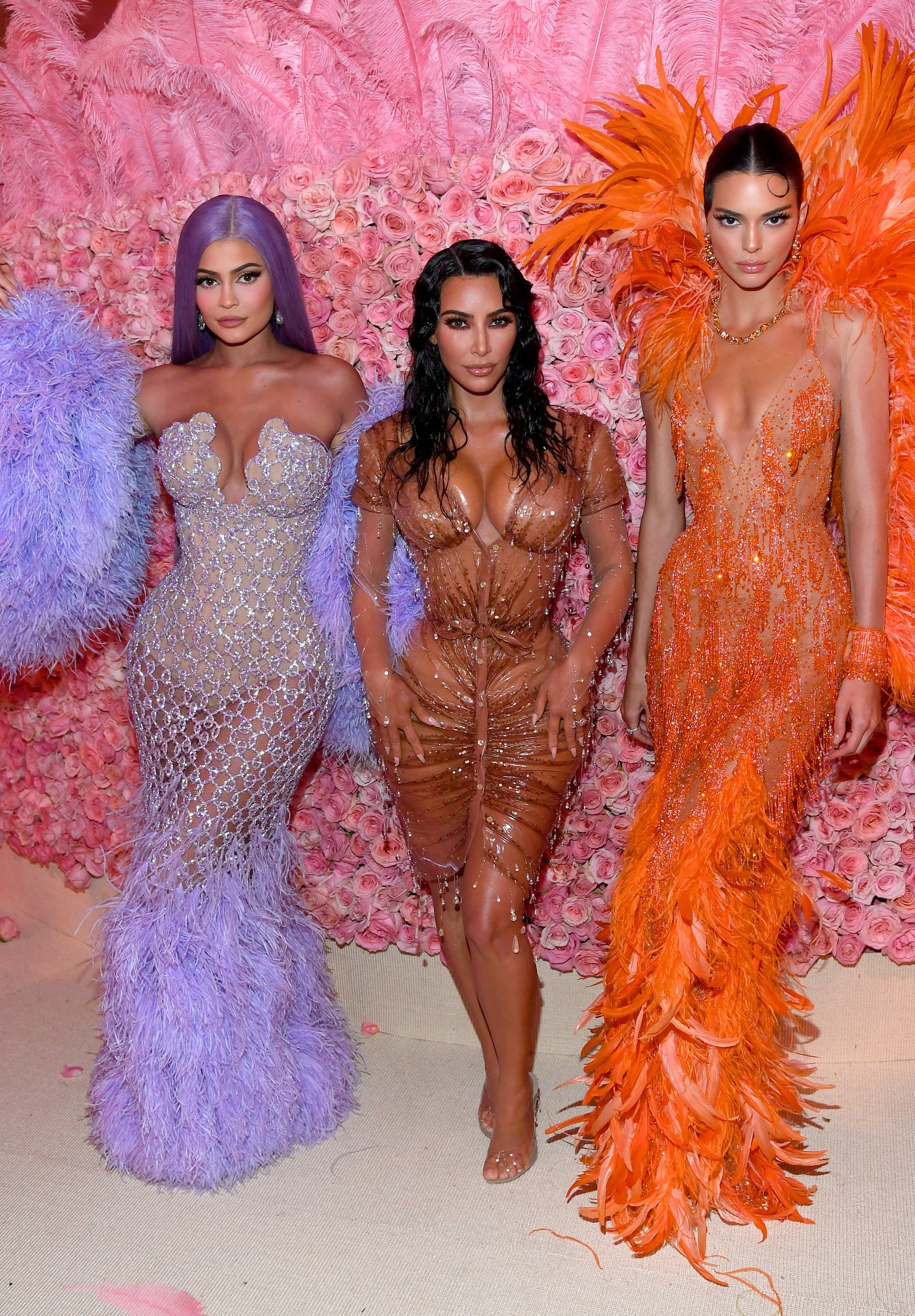 Kylie Jenner Kim Kardashian West and Kendall Jenner attend The 2019 Met Gala