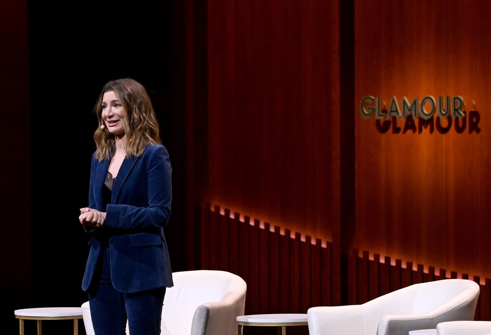 Nasim Pedrad speaks onstage during the 2019 Glamour Women Of The Year Summit at Alice Tully Hall on November 10 2019 in...
