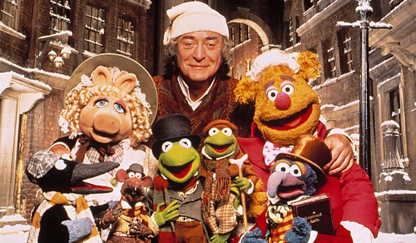 The Muppet Christmas Carol Michael Caine and the Muppets on an old London street