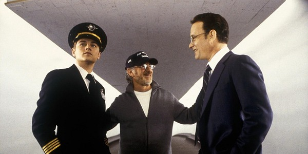 Steven Spielberg directs Tom Hanks and Leo DiCaprio in Catch Me if You Can