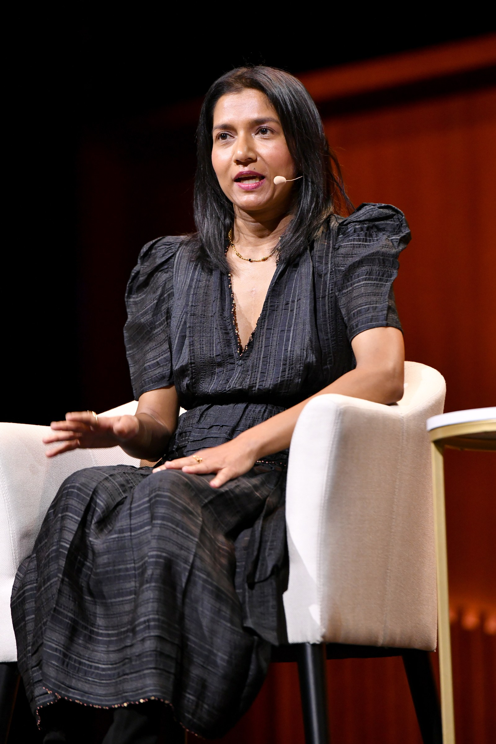 Tanya Selvaratnam speaks onstage during the MeToo Two Years Later panel at the 2019 Glamour Women Of The Year Summit