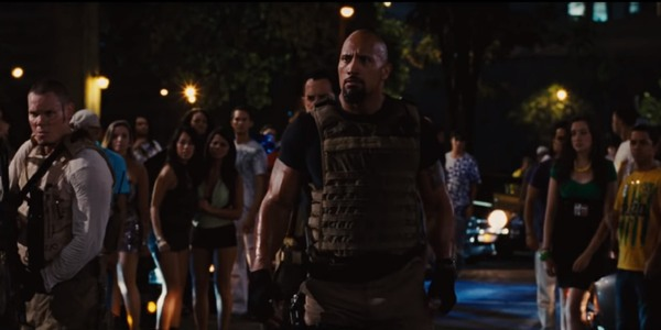 Dwayne Johnson in Fast and Furious 5