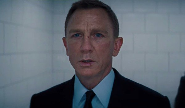 No Time To Die James Bond on the verge of tears