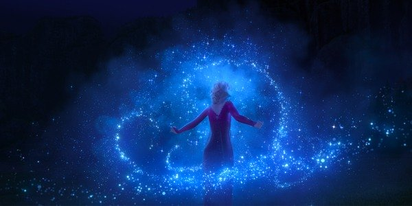 Elsa uses her powers in Frozen II