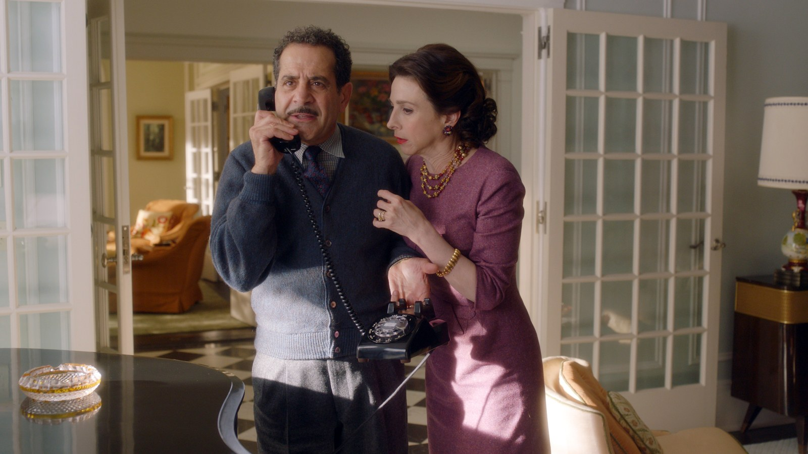 Abe and Rose Weissman on the phone