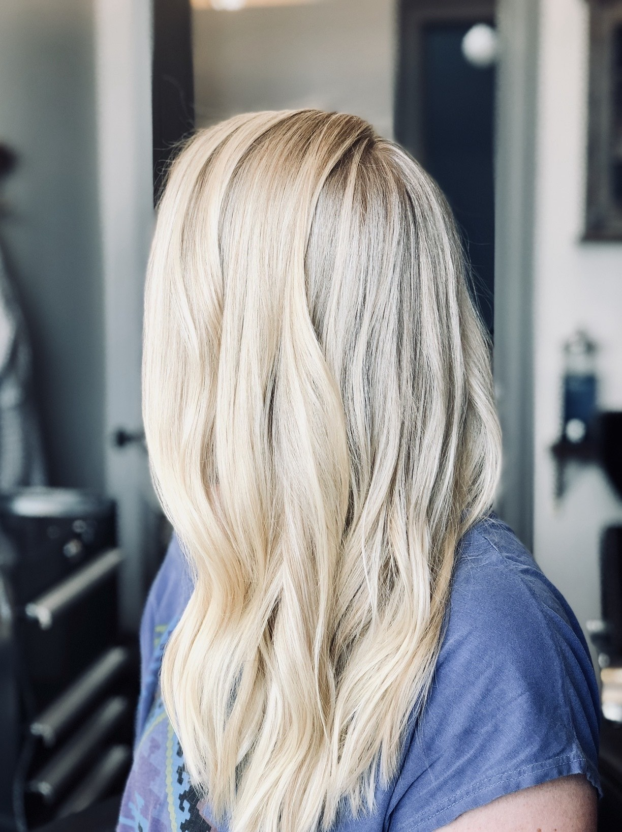 Buttercream blonde hair color
