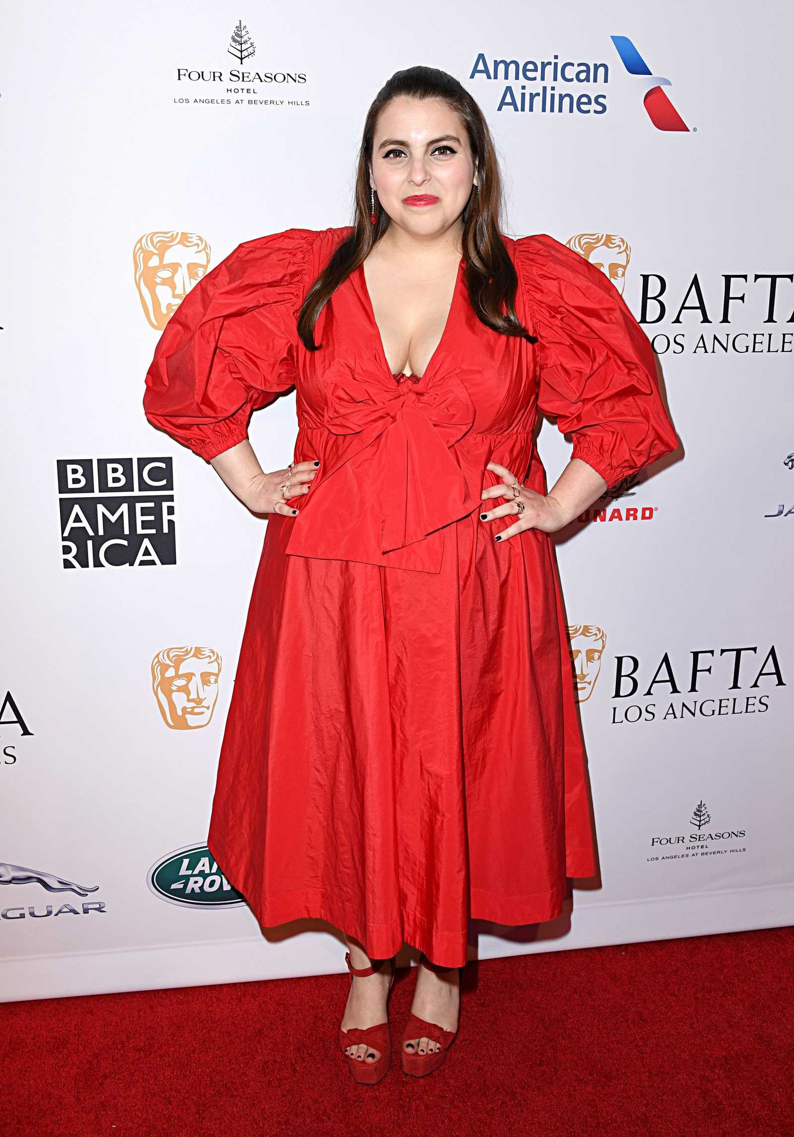 Beanie Feldstein attends The BAFTA Los Angeles Tea Party at Four Seasons Hotel Los Angeles at Beverly Hills on January...