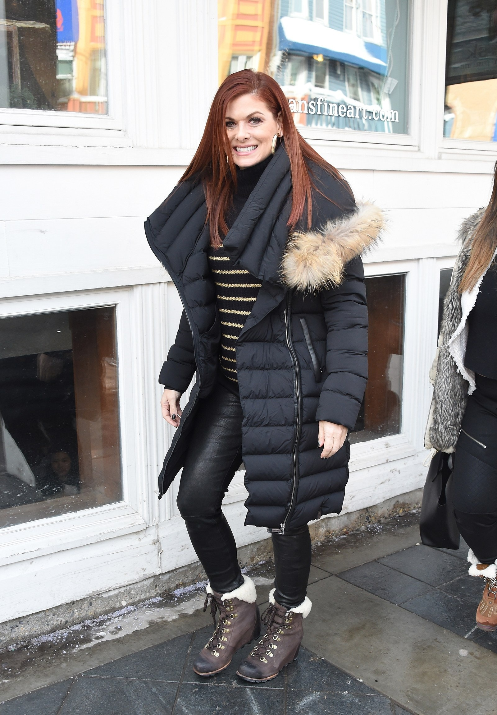 Debra Messing is seen during SOREL Style Around Park City Day 3 Park City 2018 at the 2018 Sundance Film Festival on...