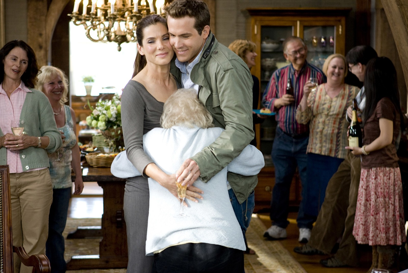 Sandra Bullock Betty White and Ryan Reynolds