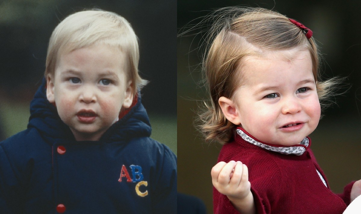 Young Prince William and Princess Charlotte