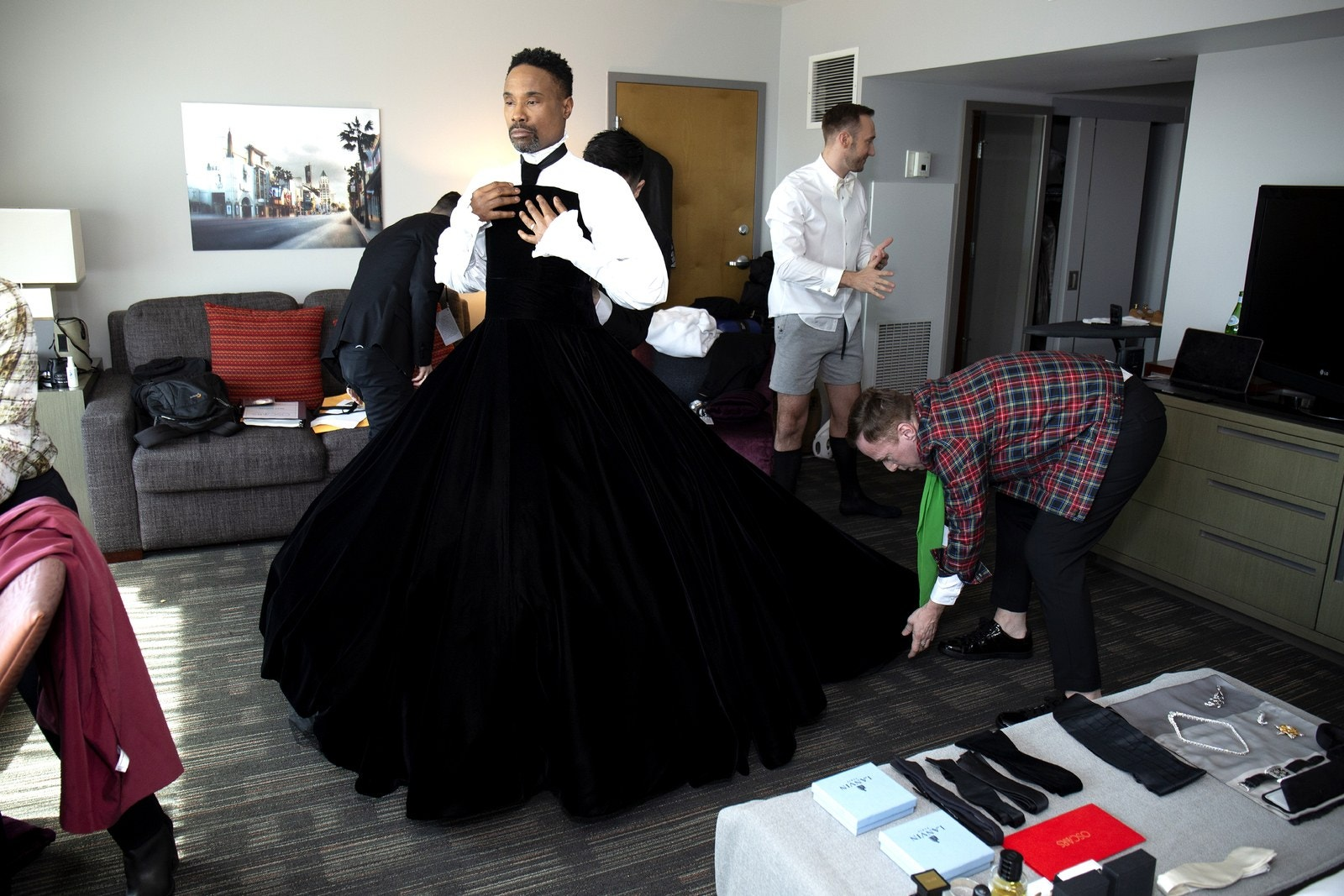 Billy Porter prepares for the 91st Academy Awards at Lowes Hollywood Hotel on February 24 2019 in Hollywood California.