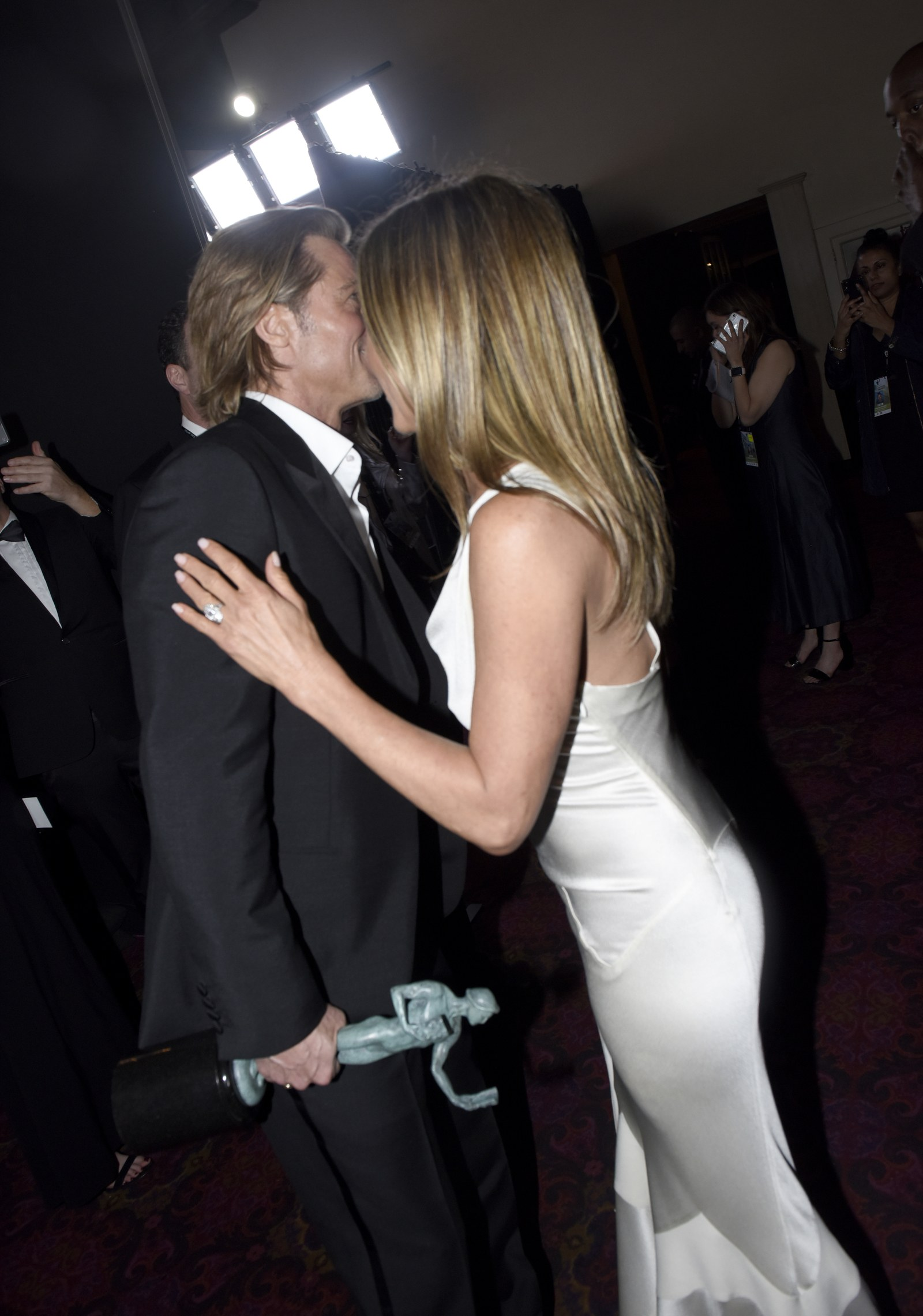 Brad Pitt and Jennifer Aniston attend the 26th Annual Screen Actors Guild Awards