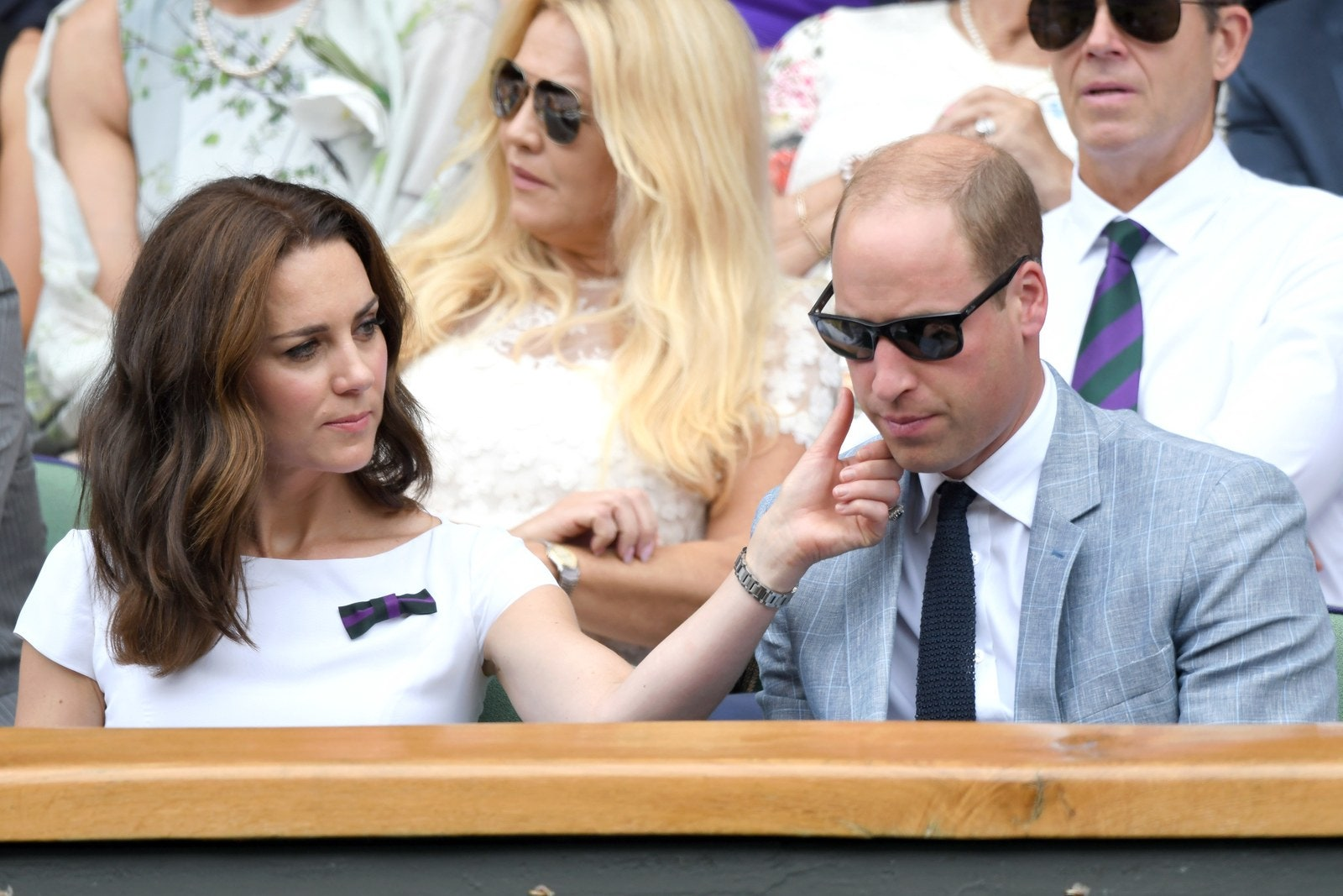 Kate Middleton and Prince William at Wimbledon 2017.