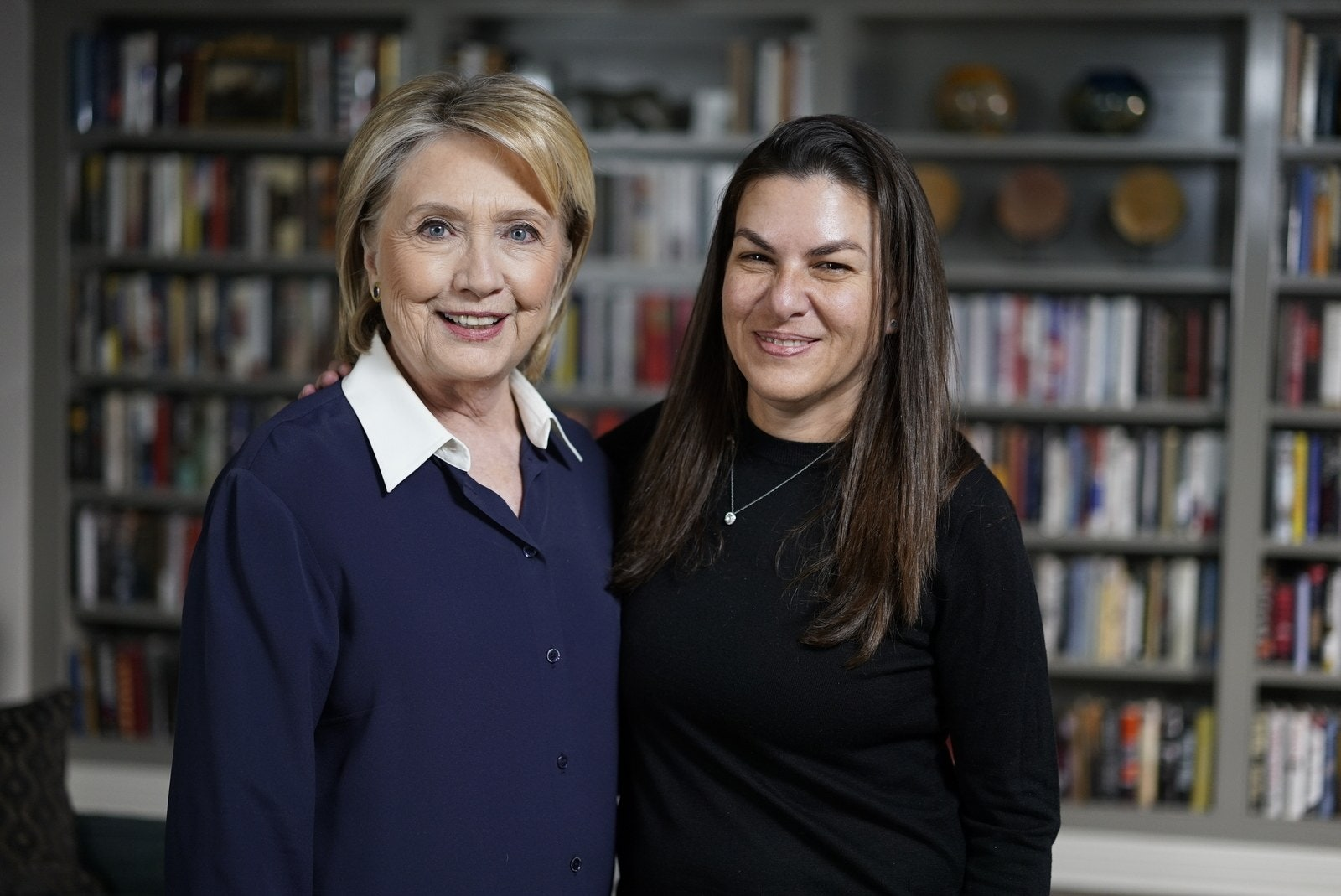 Hillary Clinton and Nanette Burstein pose for photo
