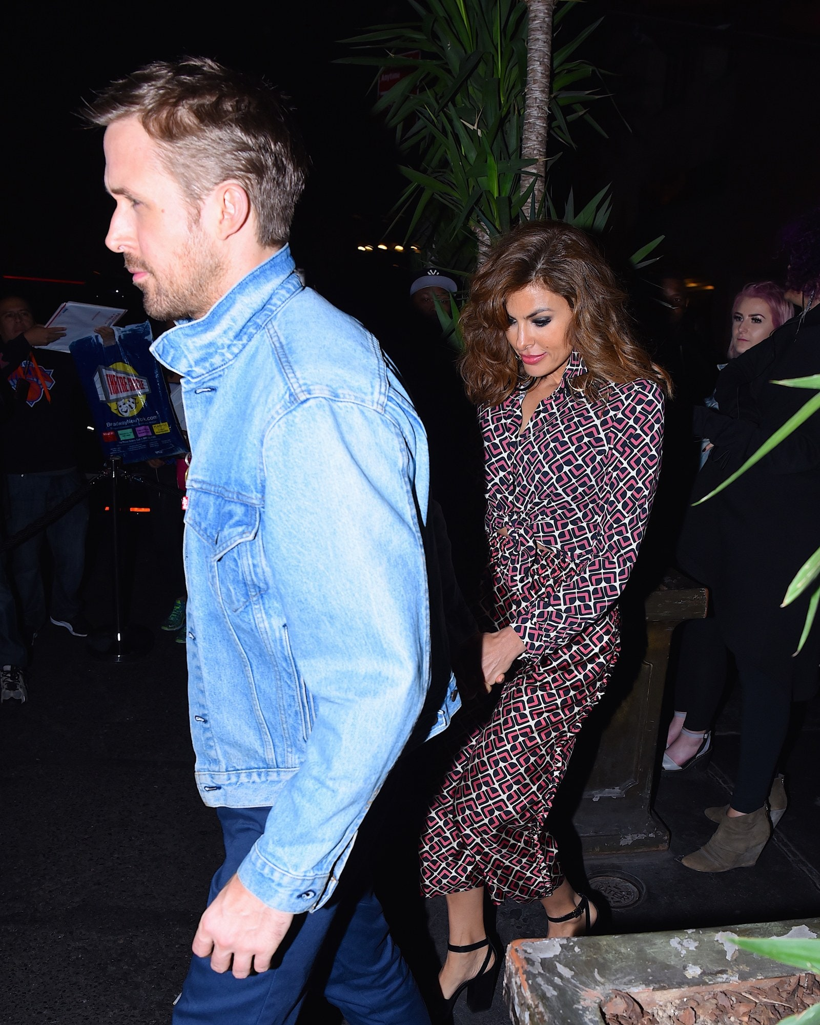 Eva Mendes and Ryan Gosling out on the town in 2017.
