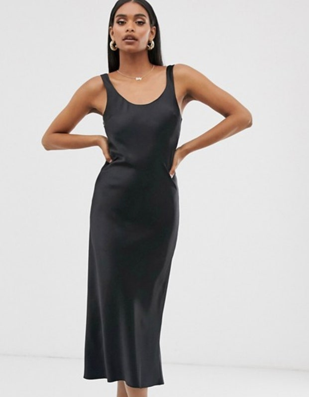 ASOS Slip dress in black