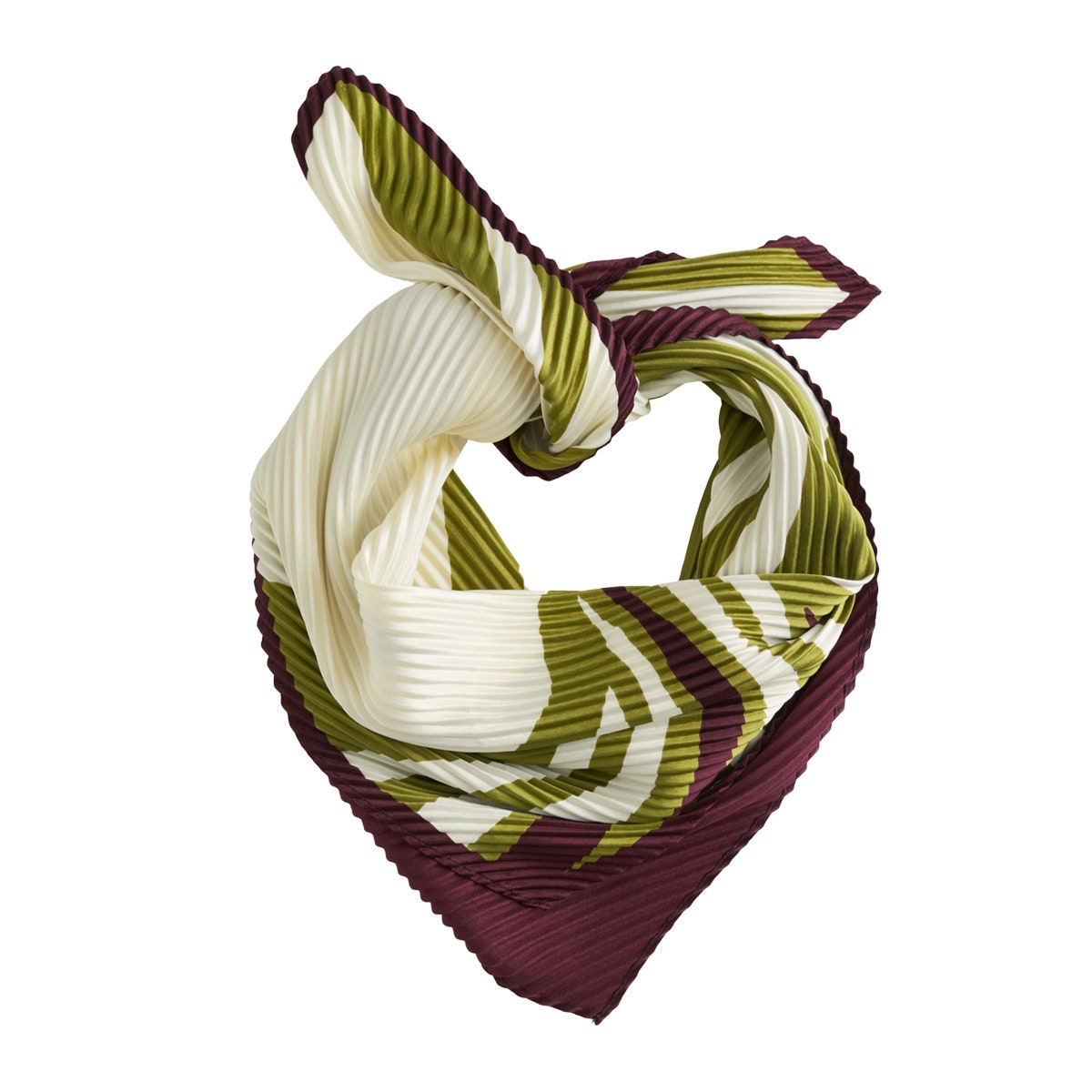 & Other Stories Color Block Swirl Pleated Scarf