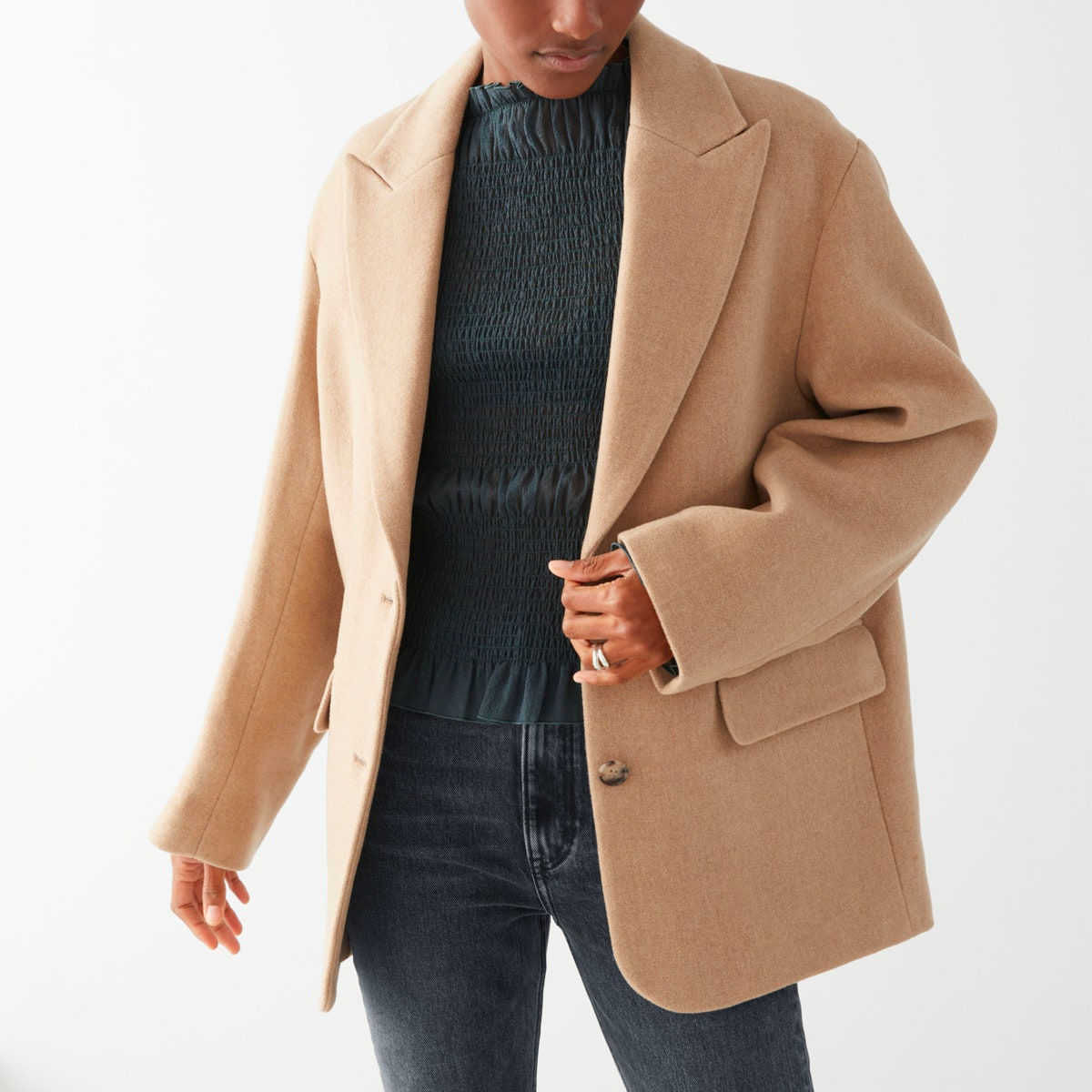 & Other Stories Oversized Wool Blend Tailored Blazer