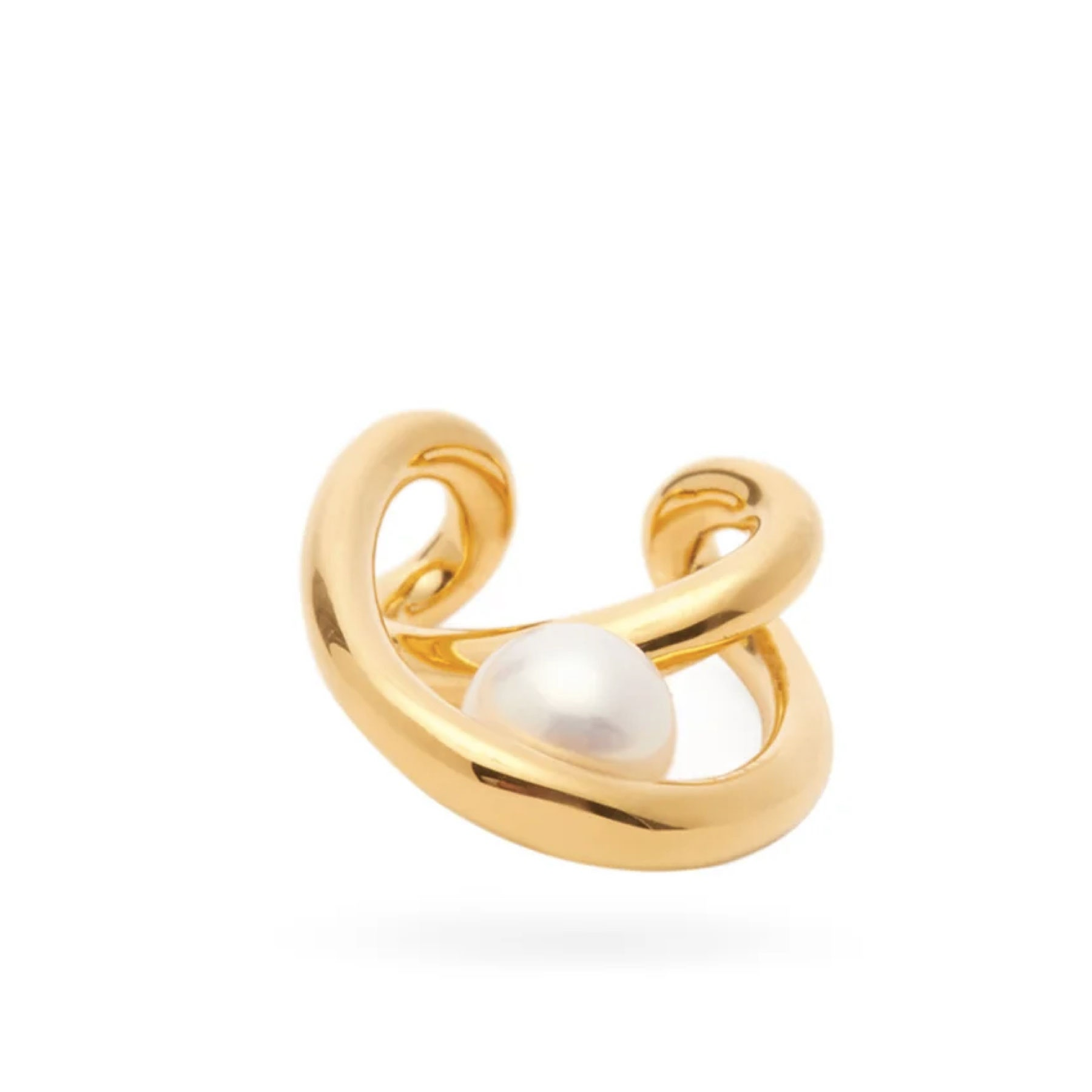 gold and pearl ear cuff