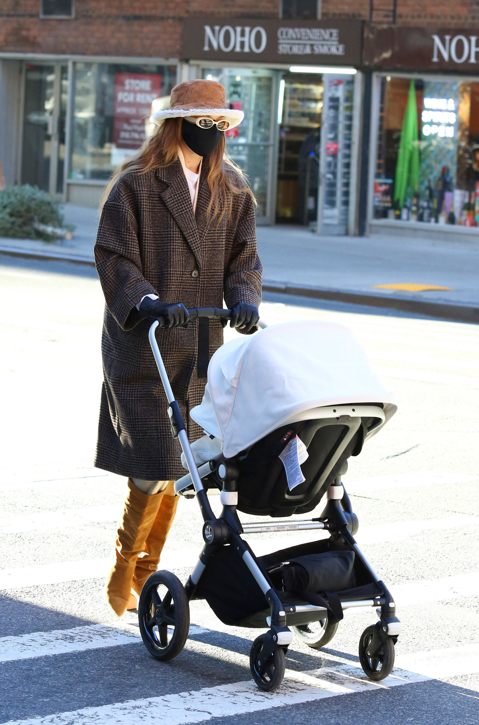 Gigi Hadid goes for a walk with her baby and a friend on January 10th 2020 in New York City New York.nbsp