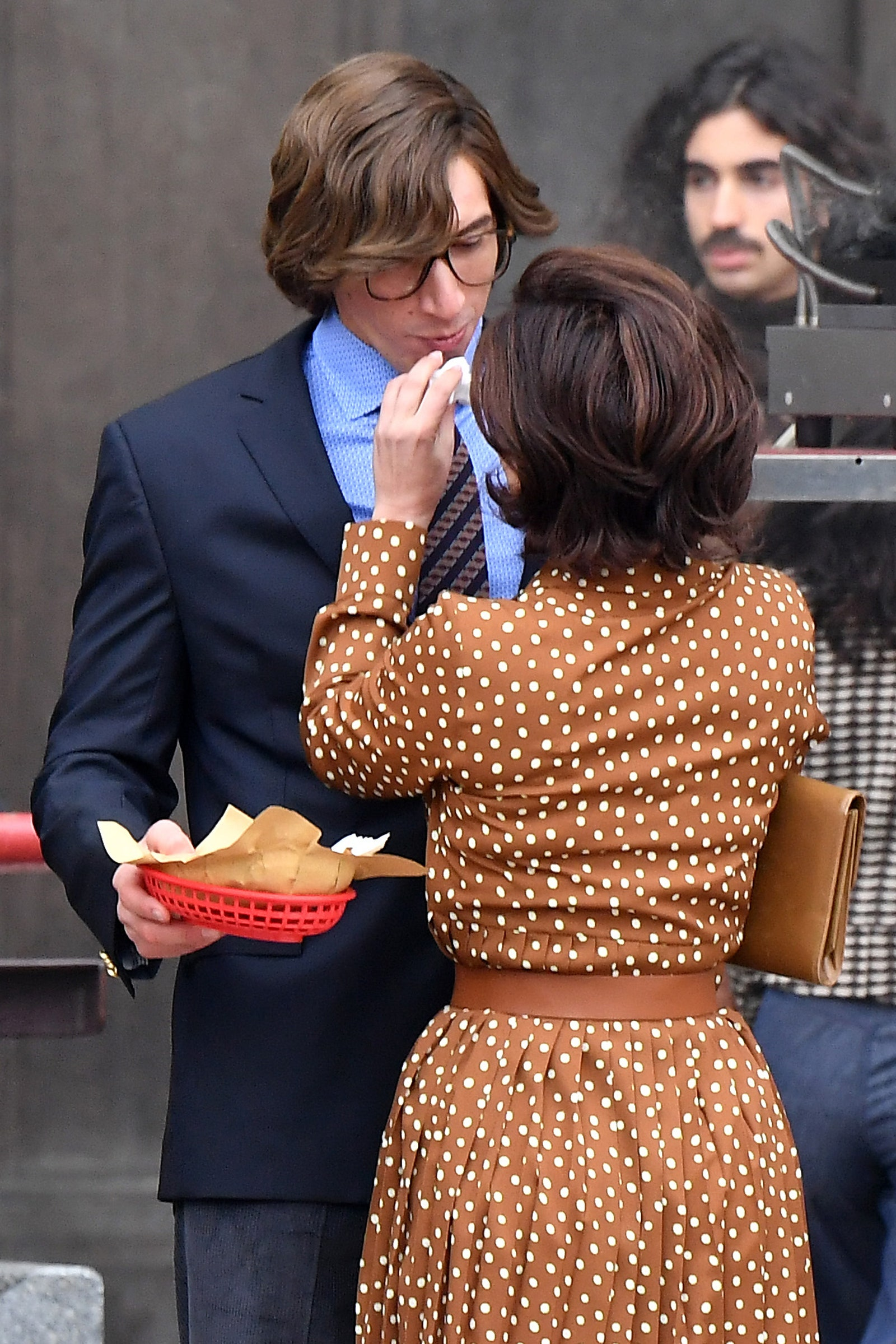 Lady Gaga and Adam Driver are seen filming 'House of Gucci'