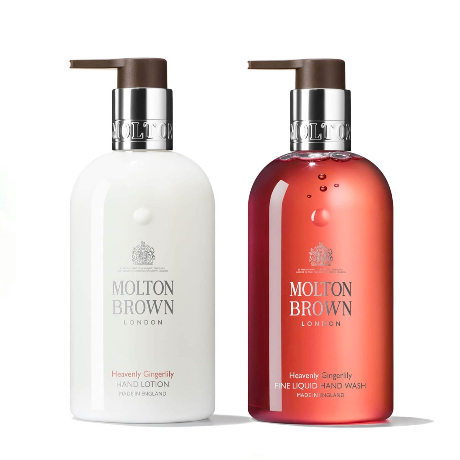 set of hand wash and hand lotion bottles