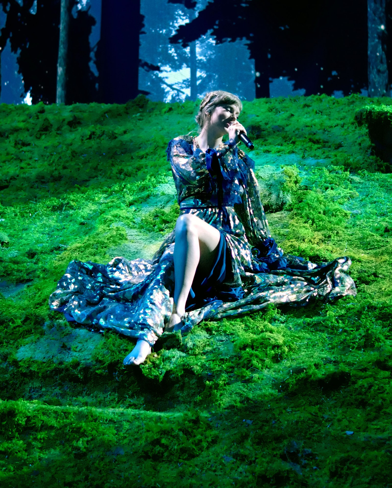 In this image released on March 14 Taylor Swift performs onstage for the 63rd Annual GRAMMY Awards