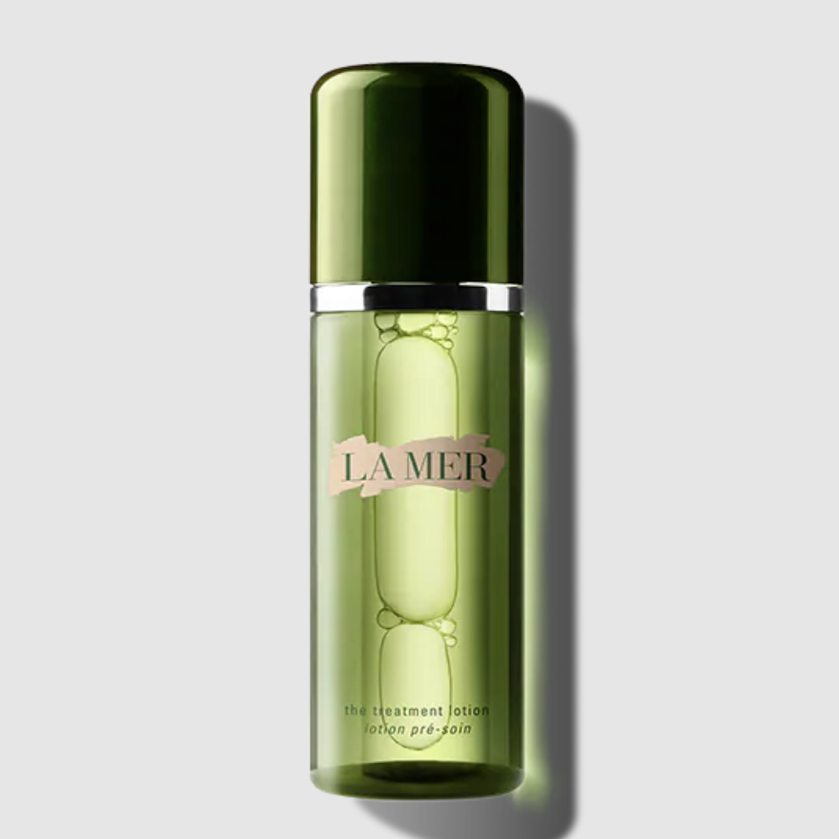 La Mer The Treatment Lotion green transparent bottle