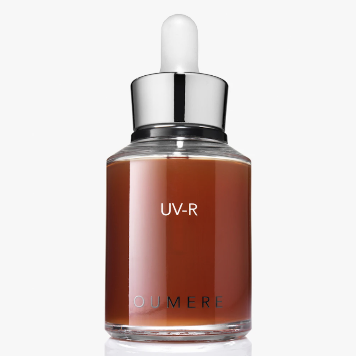 Oumere UV-R serum in glass bottle