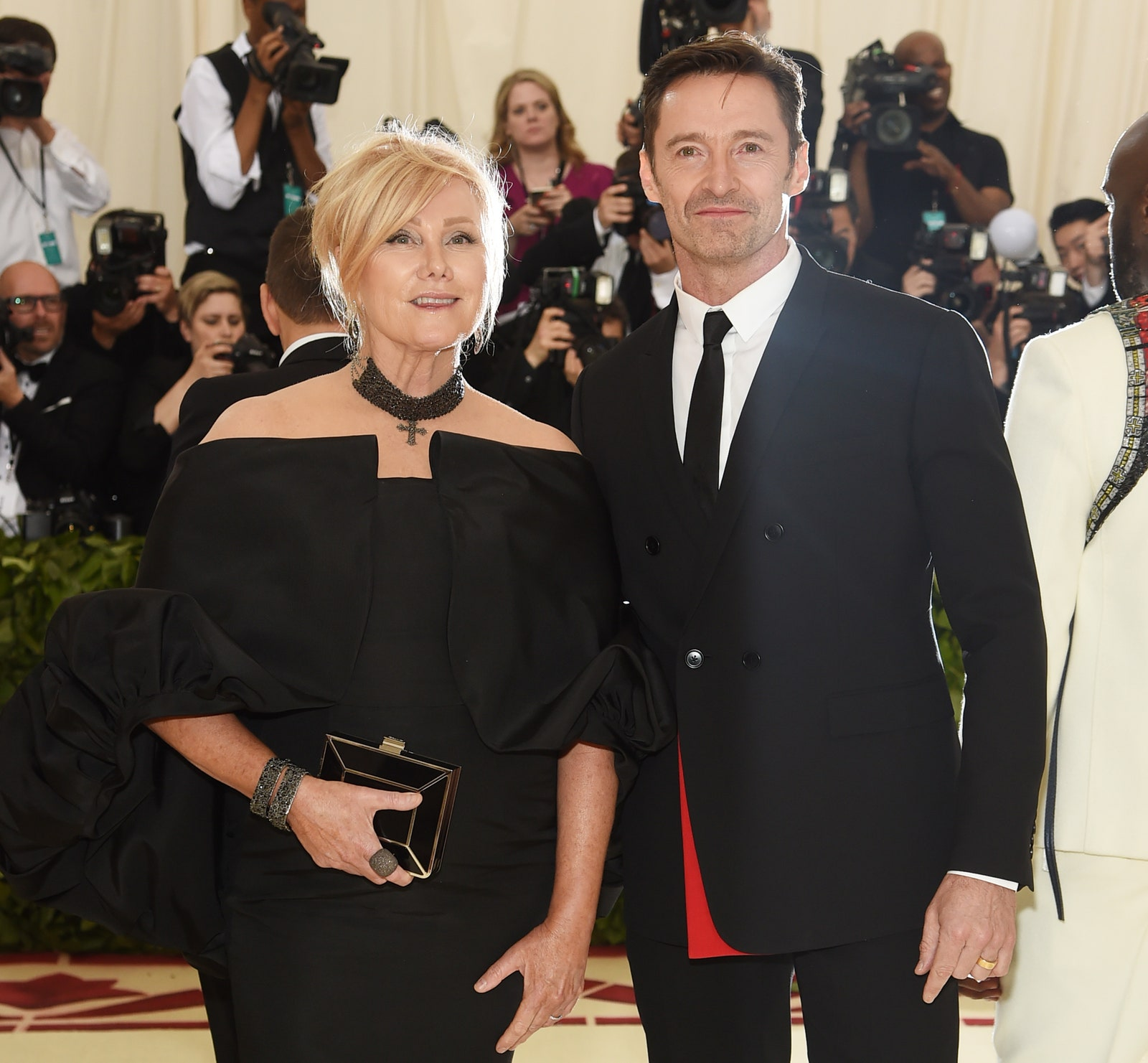 NEW YORK NY MAY 07 Deborralee Furness and Hugh Jackman attend the Heavenly Bodies Fashion The Catholic Imagination...