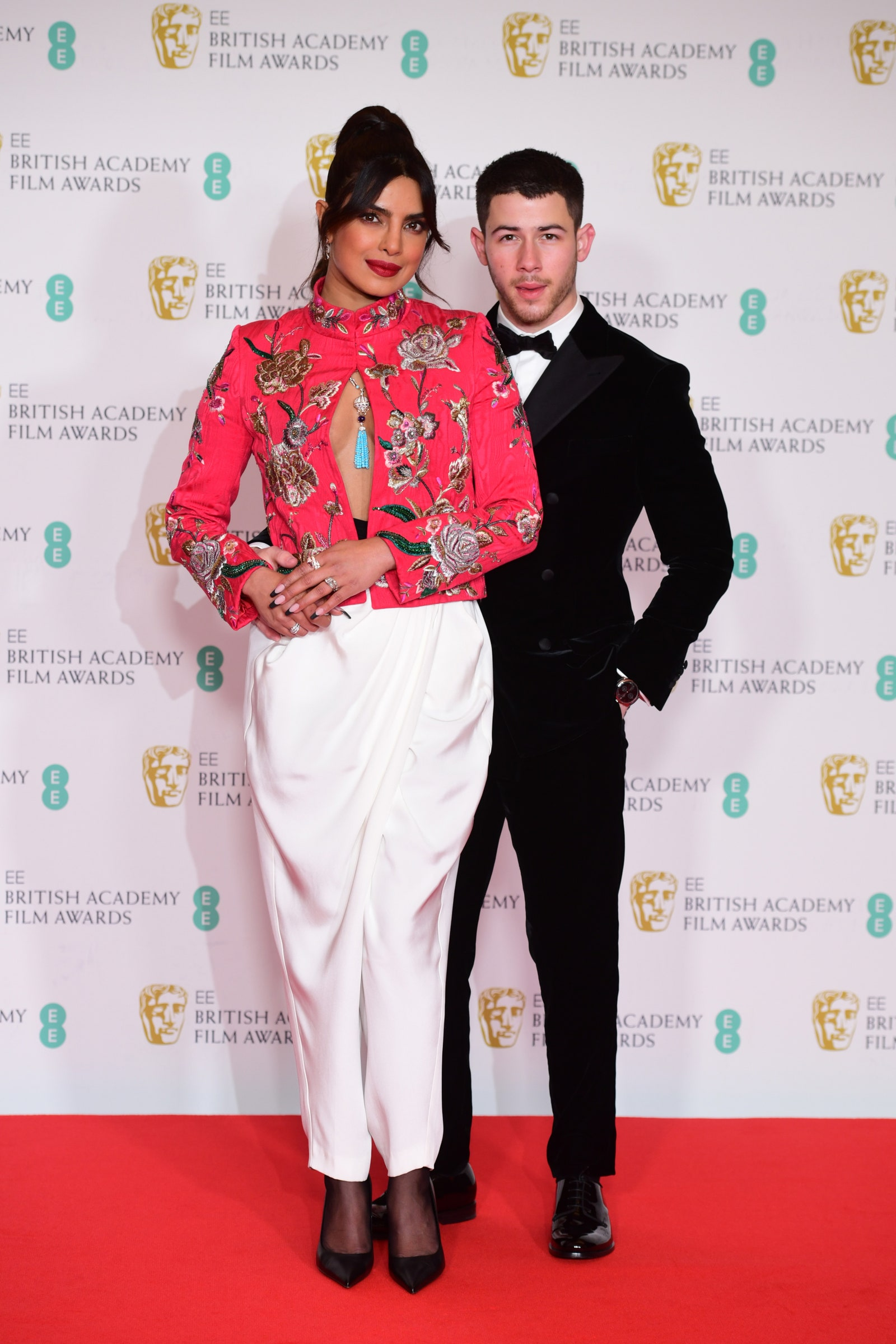 Priyanka Chopra Jonas and her husband Nick Jonas BAFTA Awards