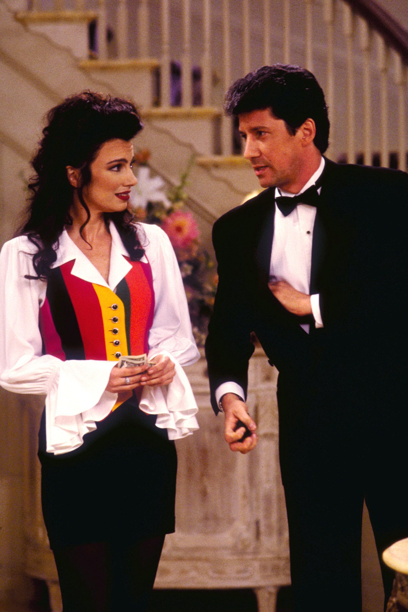 LOS ANGELES JANUARY 3 THE NANNY featuring Fran Drescher and Charles Shaugnessy. January 1994.