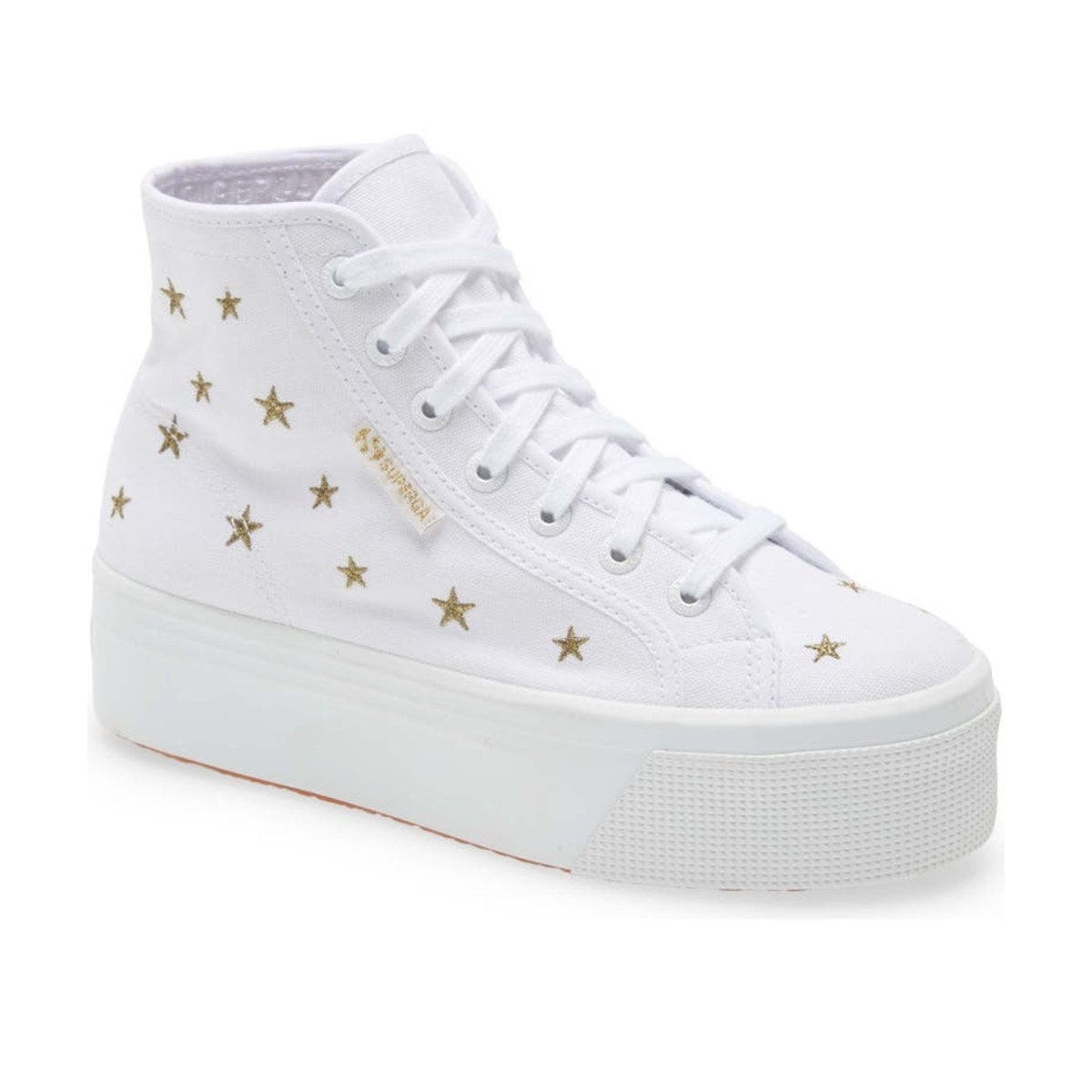 Superga 2705 Star Embroidered Platform High Top Sneakers