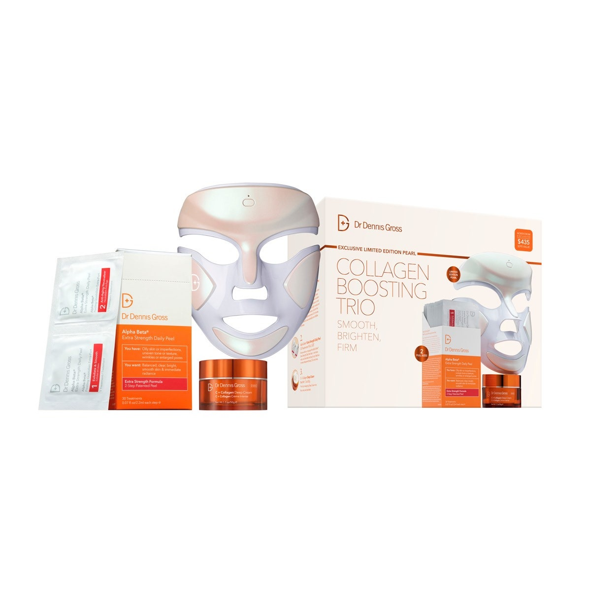 Dr. Dennis Gross Skincare DRx SpectraLite FaceWare Pro LED Light Therapy Device Set